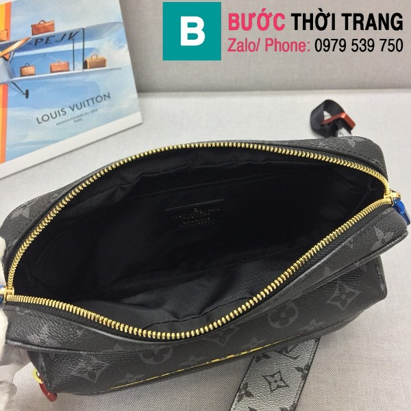 Túi xách Louis Vuitton Messenger siêu cấp monogram màu đen size 25cm - M43829