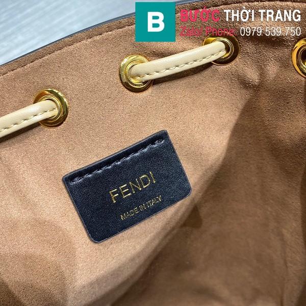 Túi xách Fendi Mon Tresor siêu cấp da bê màu xanh size 12cm