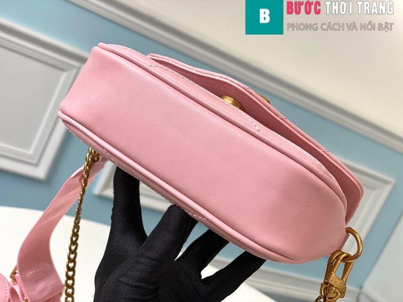 Túi xách LV Louis Vuitton New wave Multi-Pochete siêu cấp màu hồng size 19cm - M56466