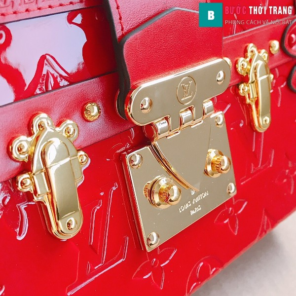 Túi xách LV Petite Malle siêu cấp màu đỏ size 20 cm - M40273
