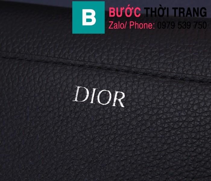 Túi xách Dior Saddle Bag siêu cấp chất liệu da bê màu đen 2 size 24cm