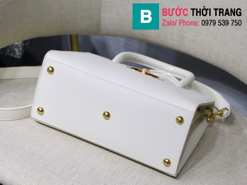 Túi xách Dior St. Honoré Bag siêu cấp da bê màu trắng size 25cm