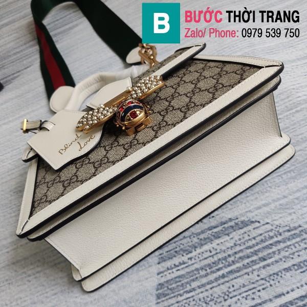 vTúi Gucci Queen Mragaret GG Top Handle Satchel siêu cấp viền trắng size 25.5 cm - 476541