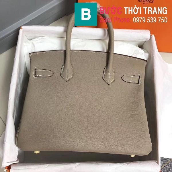 Túi xách Hermes Birkin siêu cấp da Togo màu xám lợt size 30cm
