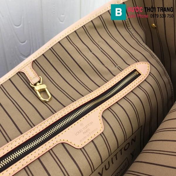 Túi xách Louis Vuitton Neverfull GM siêu cấp màu nâu họa tiết size 40 cm - M41357