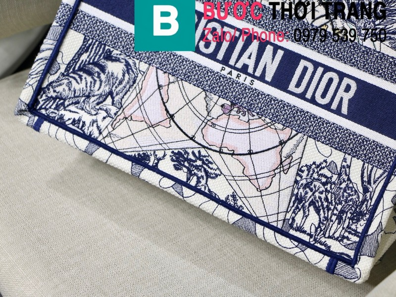 Túi xách Dior Book Tote siêu cấp chất liệu vải casvan màu 7 size 36.5cm - M1286