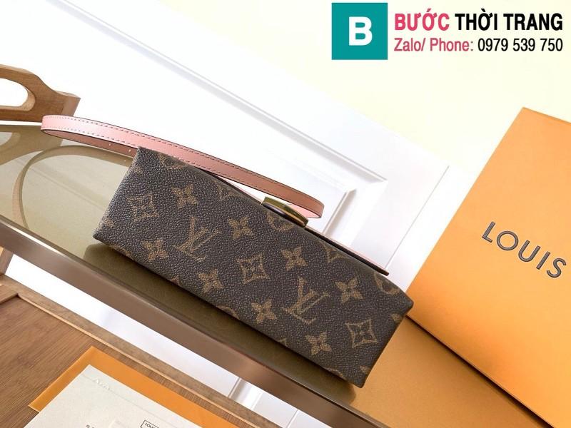 Túi xách Louis Vuitton Locky BB siêu cấp da bò màu hồng size 20 cm - M44080