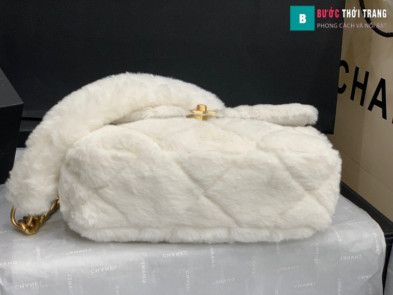 Túi xách chanel Flap Bag siêu cấp màu trắng size 21.5 cm - AS2240