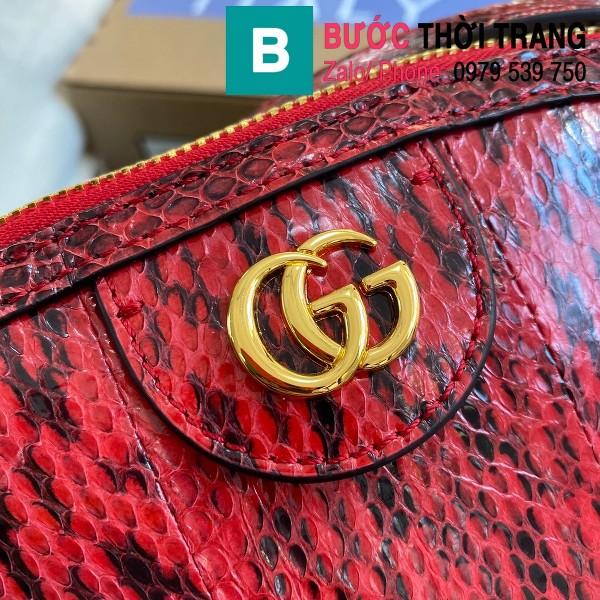 Túi xách Gucci Ophidia Small Shoulder siêu cấp da trăn màu đỏ đen size 26cm - 499621