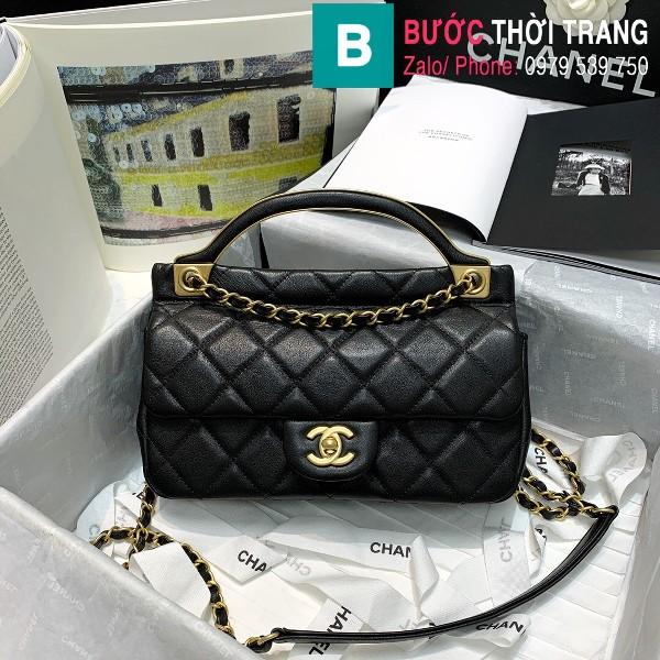 Túi xách Chanel Flap bag siêu cấp da cừu màu đen size 23cm - AS2438