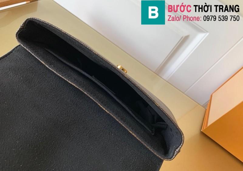 Túi xách Louis Vuitton Locky BB siêu cấp da bò màu đen size 20 cm - M44141