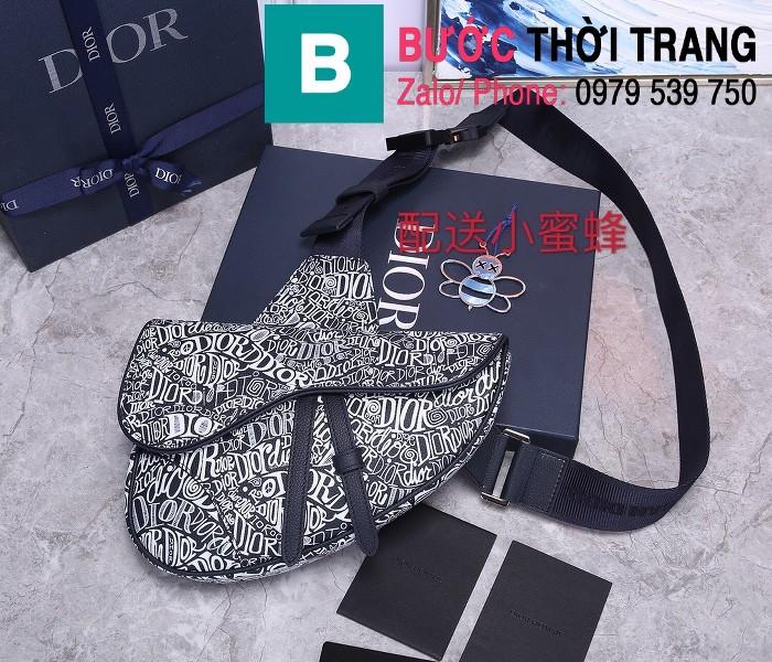 Túi xách Dior Saddle Bag siêu cấp chất liệu da bê màu 3 size 28.6cm