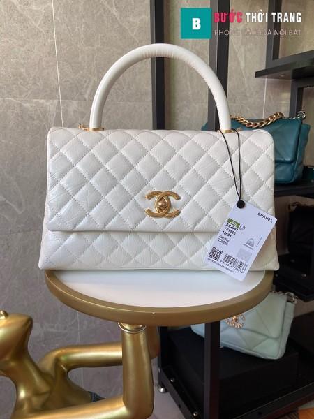 Túi xách Chanel Coco siêu cấp màu trắng size 29 cm - A92992