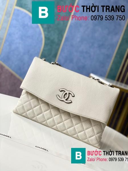 Túi đeo chéo Chanel Bag siêu cấp da cừu màu trắng size 32cm - 7095