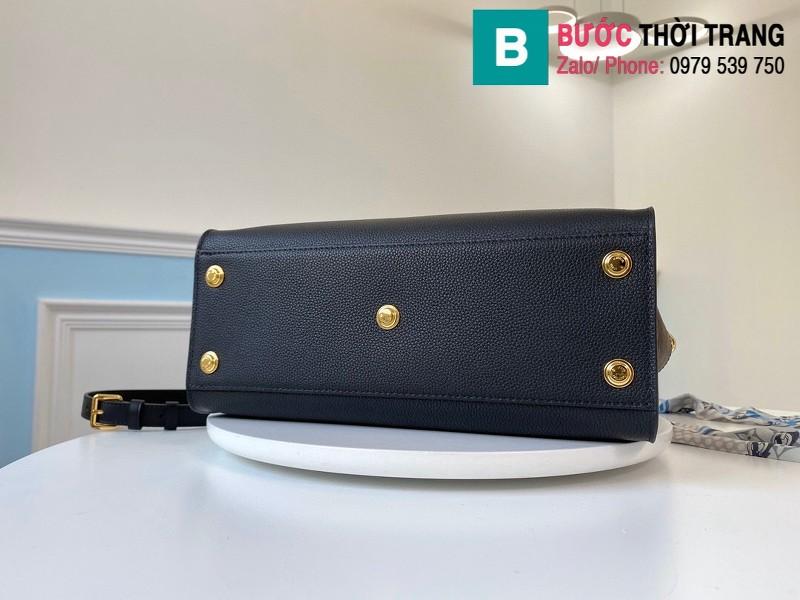 Túi xách Louis Vuitton On My Side siêu cấp da bê màu đen size 30.5 cm - M53823