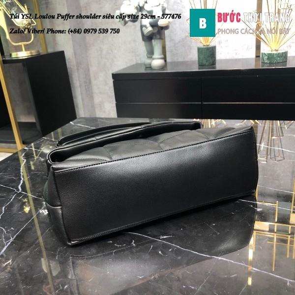 Túi YSL Loulou Puffer shoulder siêu cấp màu đen size 29cm - 577476