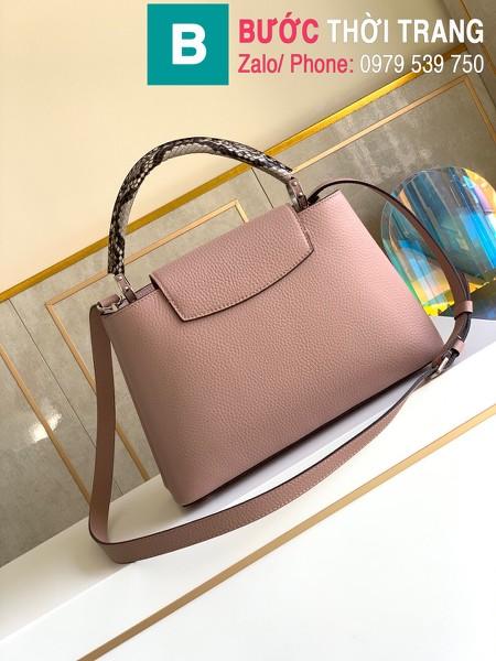 Túi xách LV Louis Vuitton Capucines Bag siêu cấp da bê màu hồng sze 31cm - M92800