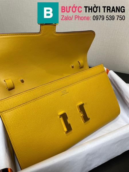 Túi xách Hermes Constance siêu cấp da epsom màu vàng size 20.5cm