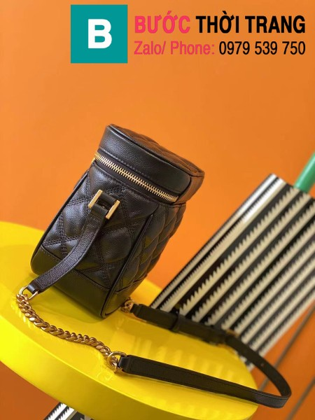 Túi xách YSL Saint Laurernt Vanity siêu cấp da bê màu đen size 14.5cm - 649779