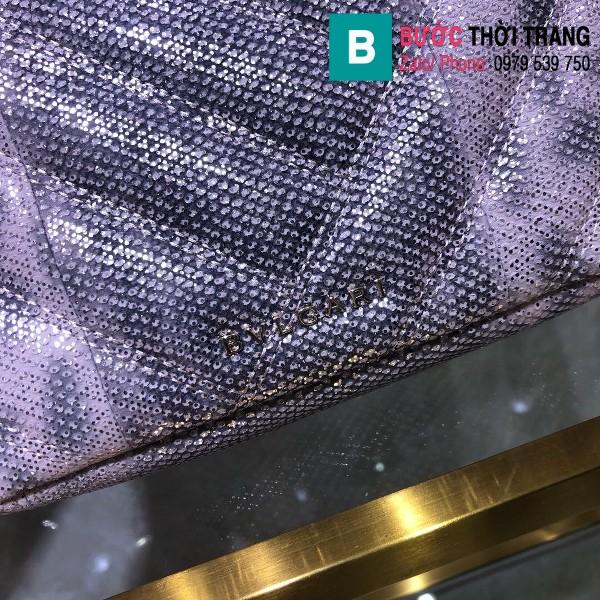 Túi xách Bvlgari Serventi Cabochon siêu cấp da rắn màu 1 size 22cm