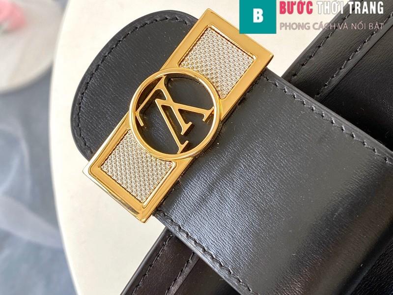 Túi xách LV Louis Vuitton Dauphine MM siêu cấp màu đen size 25cm - M55821