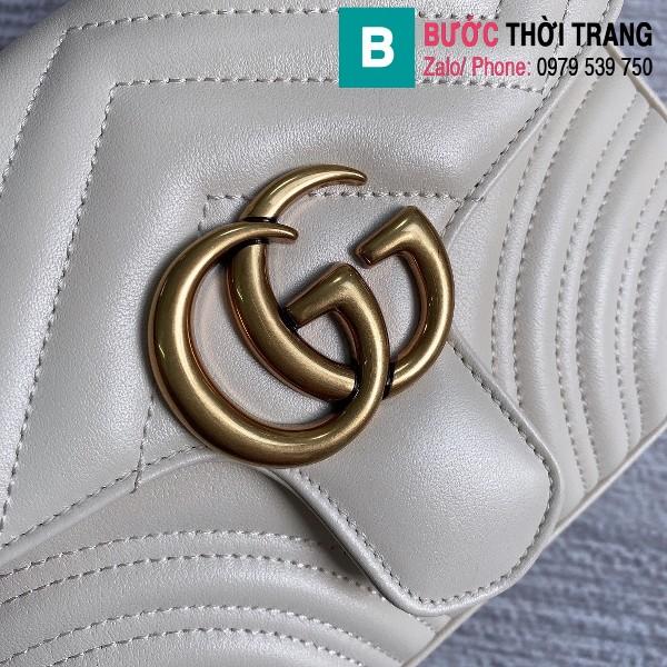 Túi xách Gucci Marmont mini top handle bag siêu cấp màu trắng size 21 cm - 547260