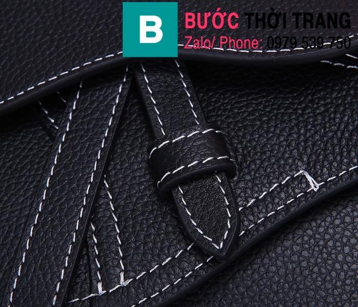 Túi xách Dior Saddle Bag siêu cấp chất liệu da bê màu đen 1 size 24cm