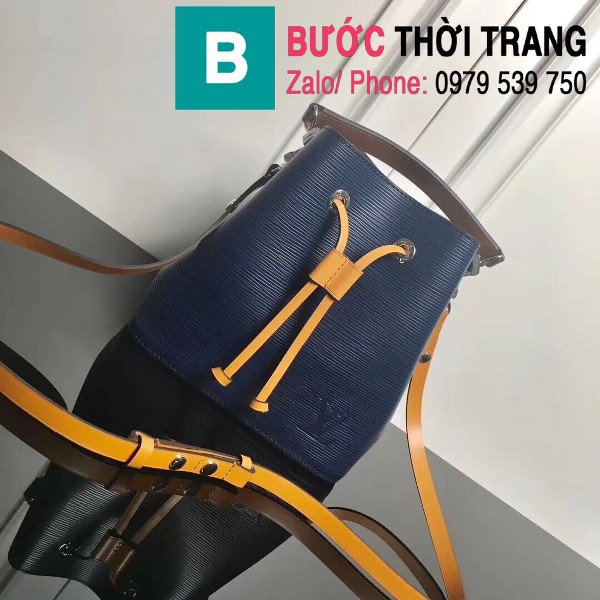 Túi xách LV Louis Vuitton NéoNoé BB Bag siêu cấp da sần màu xanh tím than size 20cm - M52853