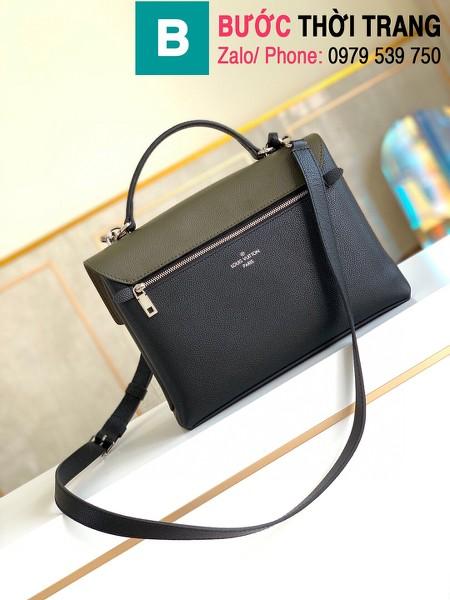 Túi xách Louis Vuitton Mylockme siêu cấp da bê màu rêu size 28 cm - M55323