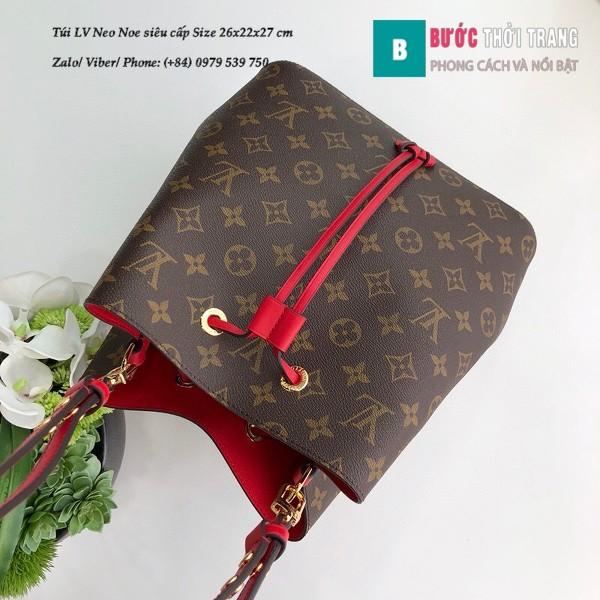 Túi xách LV Louis Vuitton Neo Noe siêu cấp dây màu đỏ size 26cm - M44021