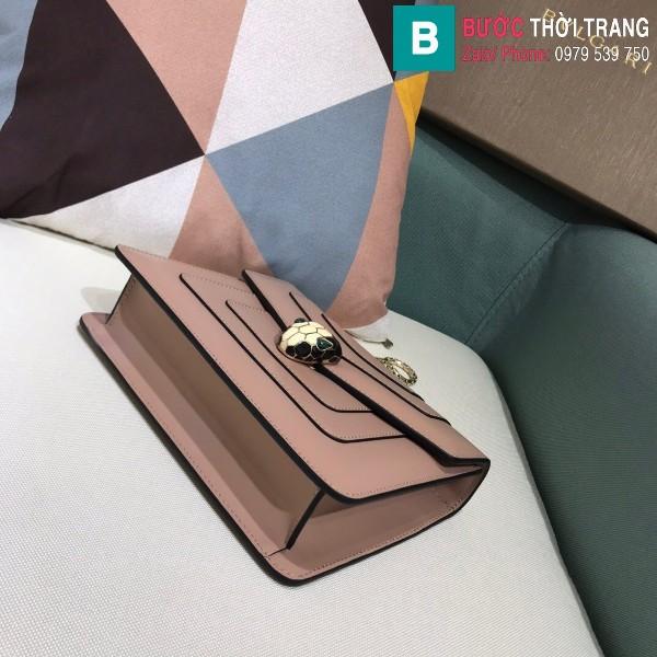 Túi xách Bvlgari serventi forever siêu cấp da bê màu da size 20 cm