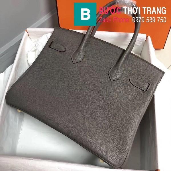 Túi xách Hermes Birkin siêu cấp da Togo màu xám đậm size 30cm