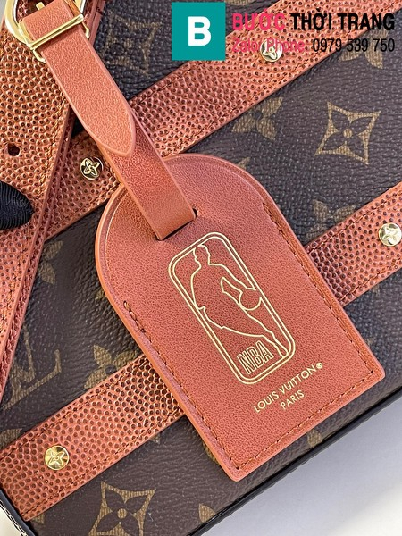 Túi xách LVXNBA Handle Trunk siêu cấp da bê màu nâu size 21.5cm - M57971