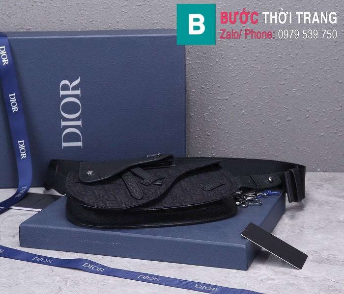 Túi xách Dior Saddle Bag {túi yên ngựa} siêu cấp vải canvas màu 2 size 24 cm