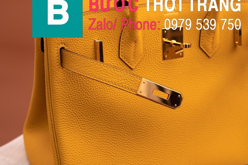 Túi xách Hermes Birkin siêu cấp da bê Togo màu vàng size 30cm