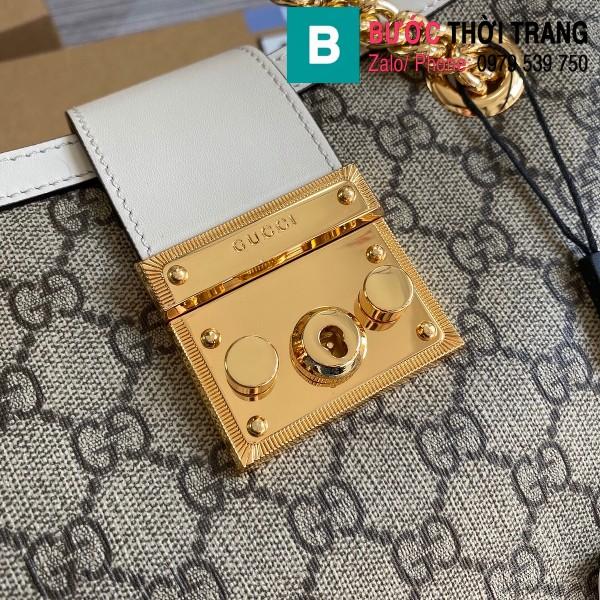 Túi xách Gucci Padlock GG small shoulder bag siêu cấp viền trắng size 26 cm - 498156