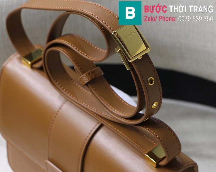 Túi xách Dior 30 Montaigne siêu cấp da bê màu nâu bò size 24cm