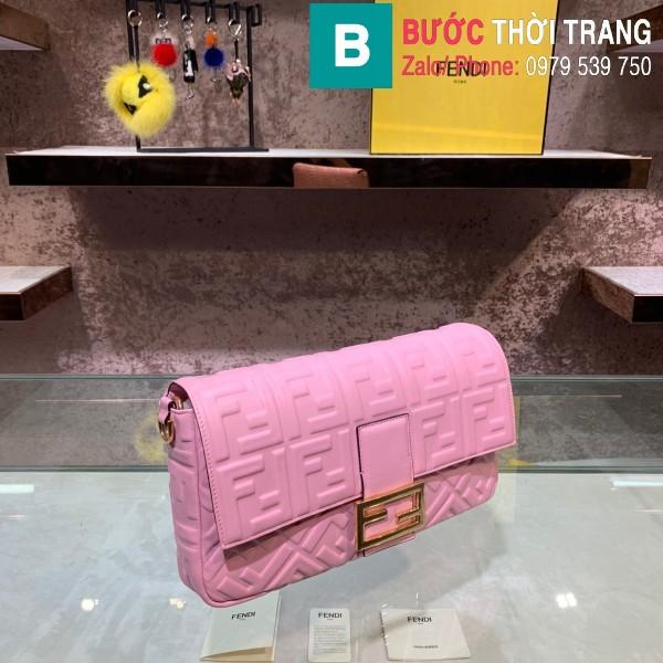 Túi xách Fendi Baguette bag siêu cấp da nappa màu hồng size 32cm