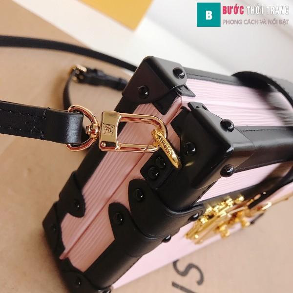 Túi xách LV Petite Malle siêu cấp màu hồng size 20 cm - M40273