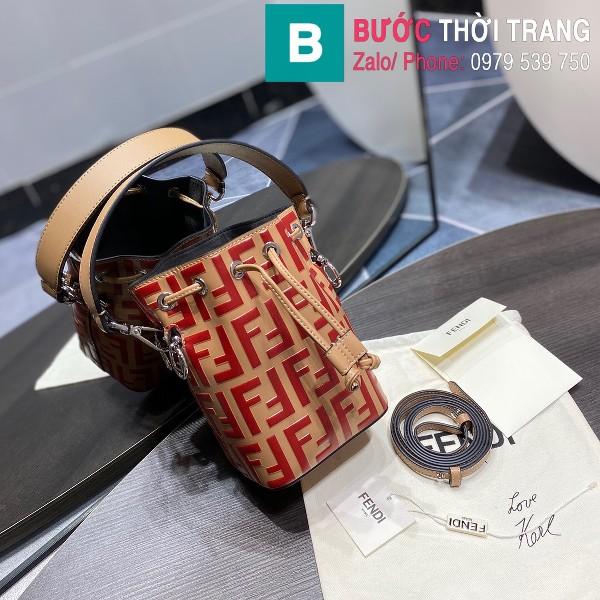 Túi xách Fendi Mon Tresor siêu cấp da bê màu đỏ đô size 12cm