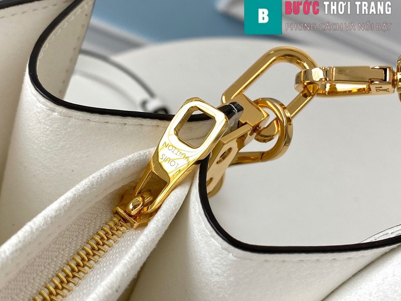 Túi xách LV Louis Vuitton Dauphine MM siêu cấp màu trắng size 25cm - M55836