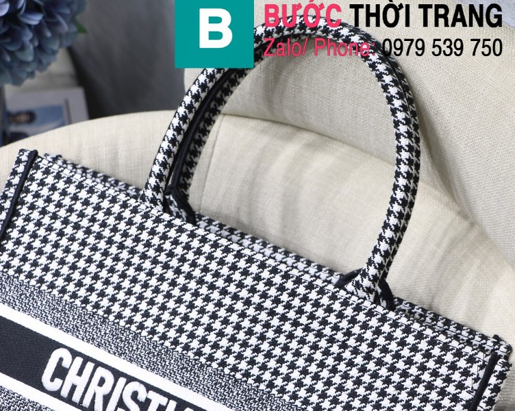 Túi xách Dior Book Tote siêu cấp chất liệu vải casvan màu 3 size 36.5cm - M1286