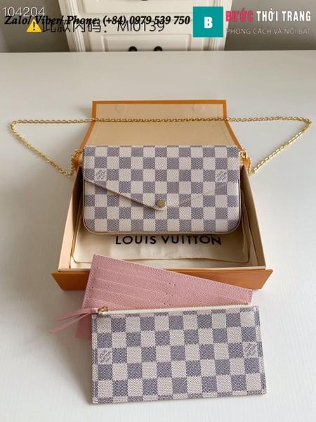 Túi Louis Vuitton Félicie Pochette Damier Azur - N63106