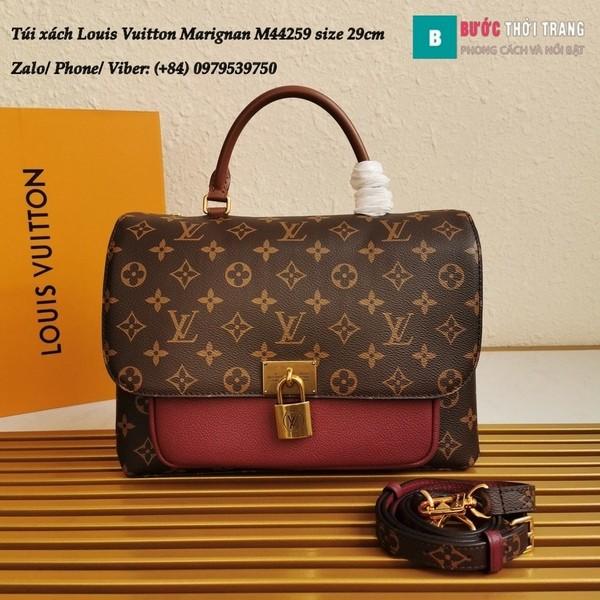 Túi xách LV Marignan siêu cấp màu đỏ đô size 29cm kiểu xách tay - M44259
