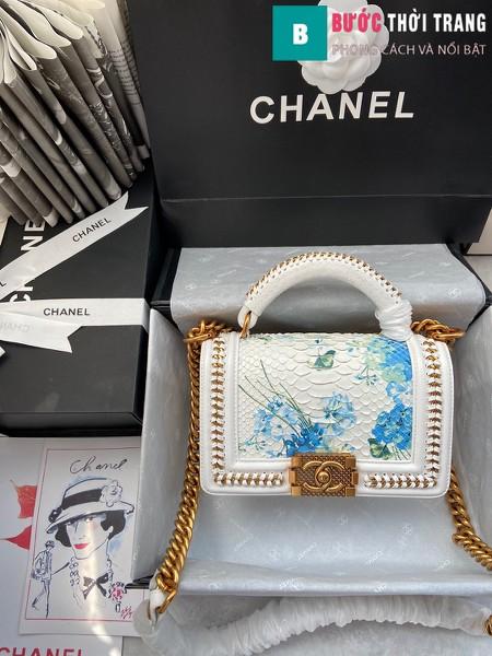 Túi xách Chanel boy siêu cấp da trăn màu 3 size 20 cm - A94805