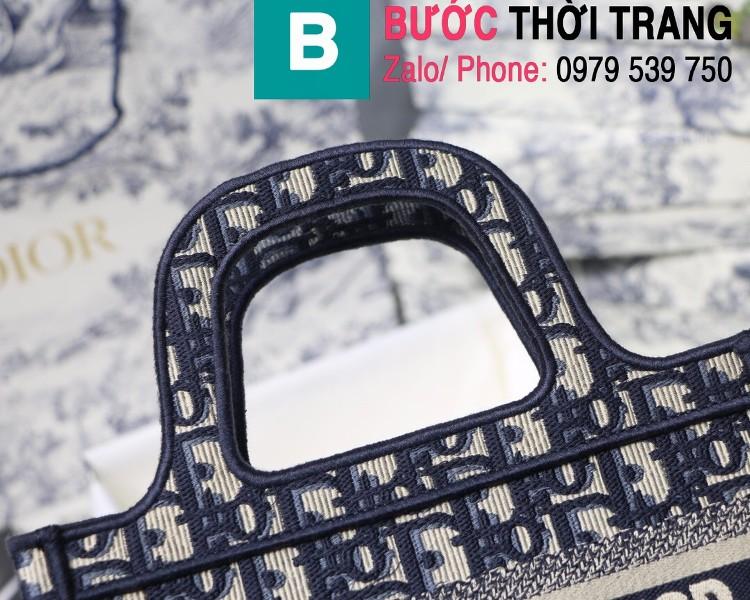 Túi xách Dior Book Tote mini siêu cấp chất liệu vải casvan màu 2 size 23cm
