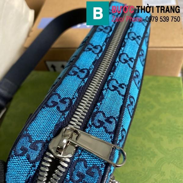 Túi xách Gucci Multicolour belt bag siêu cấp casvan màu xanh size 24cm - 658657