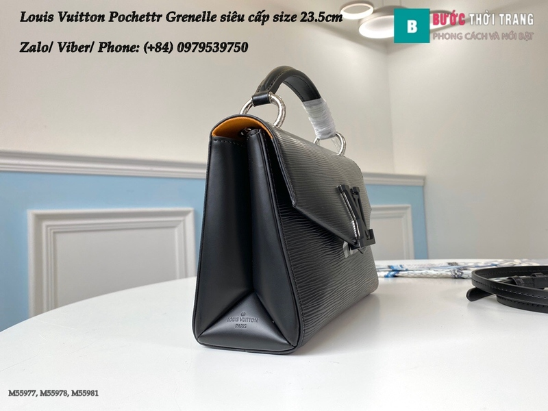Túi xách Louis Vuitton Pochette Grenelle màu đen siêu cấp size 23.5cm - M55977