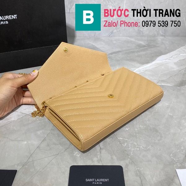 Túi xách YSL Saint laurent Monogram chanin bag siêu cấp da hạt màu bò size 22.5cm - 377828
