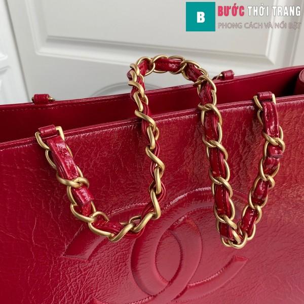 Túi xách Chanel Shopping bag siêu cấp màu đỏ size 37 cm - AS1943